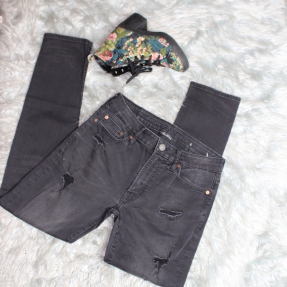 American Eagle Outfitters Other - American Eagle Distressed Black Skinny Jeans
